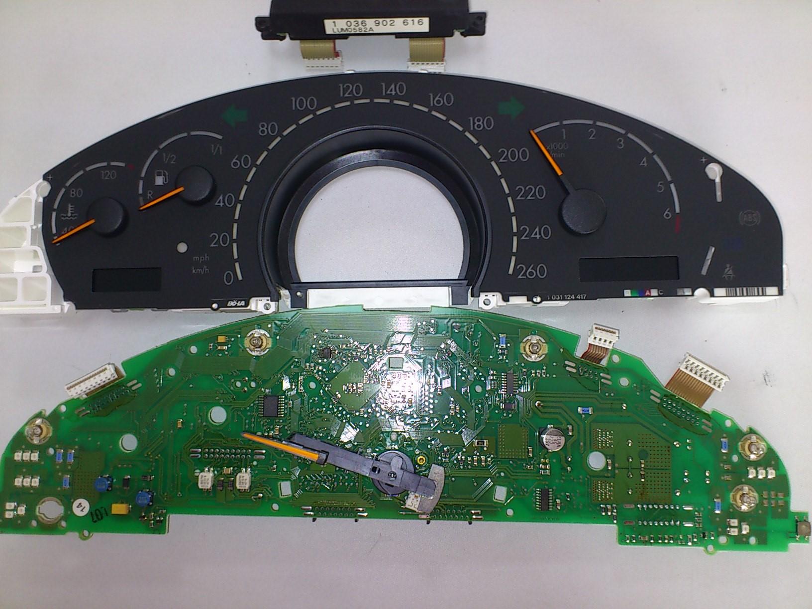 輸入車 液晶修理・指針動作不良の修理